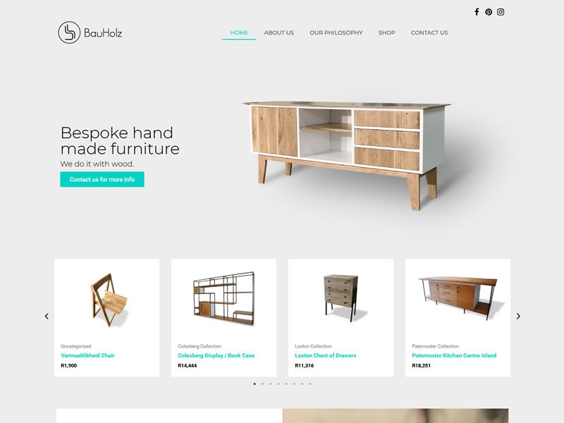 BauHolz Website - Design ip Webcraft