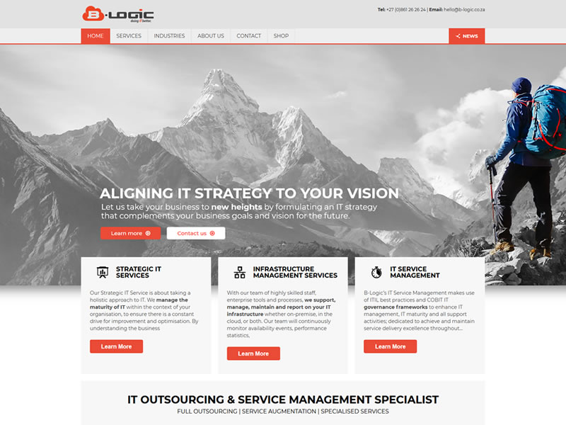 B-Logic Website - Design ip Webcraft